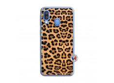 Coque Samsung Galaxy A40 Leopard Style Translu