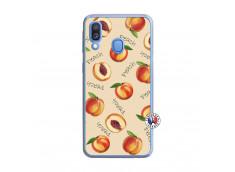Coque Samsung Galaxy A40 Sorbet Pêche Translu
