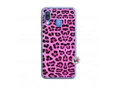 Coque Samsung Galaxy A40 Pink Leopard Translu