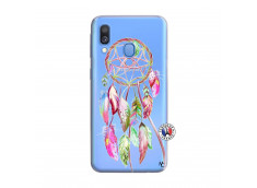 Coque Samsung Galaxy A40 Pink Painted Dreamcatcher