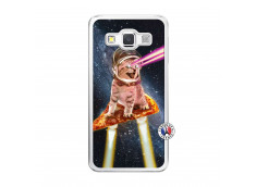 Coque Samsung Galaxy A5 2015 Cat Pizza Translu