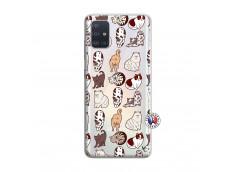 Coque Samsung Galaxy A51 Cat Pattern