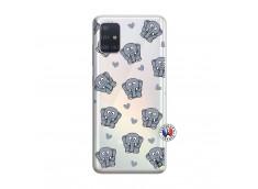 Coque Samsung Galaxy A51 Petits Elephants