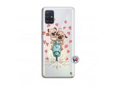 Coque Samsung Galaxy A51 Puppies Love