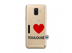 Coque Samsung Galaxy A6 2018 I Love Toulouse