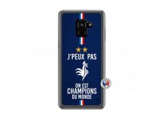 Coque Samsung Galaxy A6 2018 Je Peux Pas On Est Les Champions Du Monde Translu