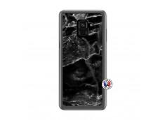 Coque Samsung Galaxy A6 2018 Black Marble Translu