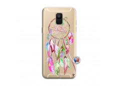 Coque Samsung Galaxy A6 2018 Pink Painted Dreamcatcher