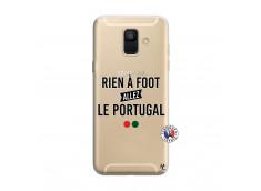 Coque Samsung Galaxy A6 2018 Rien A Foot Allez Le Portugal