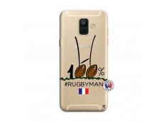 Coque Samsung Galaxy A6 2018 100 % Rugbyman Entre les Poteaux