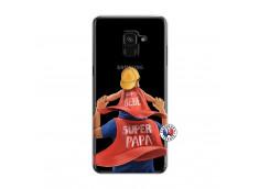 Coque Samsung Galaxy A6 2018 Super Papa et Super Bébé