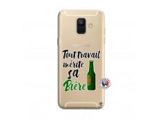 Coque Samsung Galaxy A6 2018 Tout Travail Merite Sa Biere
