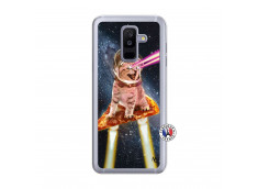 Coque Samsung Galaxy A6 Plus Cat Pizza Translu