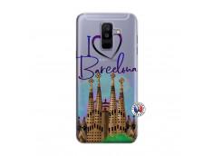 Coque Samsung Galaxy A6 Plus I Love Barcelona