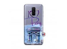 Coque Samsung Galaxy A6 Plus I Love Paris Arc Triomphe