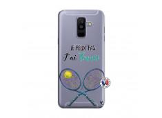 Coque Samsung Galaxy A6 Plus Je Peux Pas J Ai Tennis