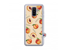 Coque Samsung Galaxy A6 Plus Sorbet Pêche Translu