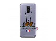 Coque Samsung Galaxy A6 Plus 100 % Rugbyman Entre les Poteaux