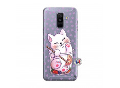 Coque Samsung Galaxy A6 Plus Smoothie Cat