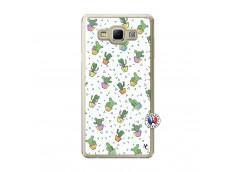 Coque Samsung Galaxy A7 2015 Le Monde Entier est un Cactus Translu