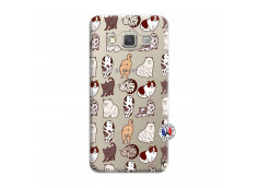 Coque Samsung Galaxy A7 2015 Cat Pattern
