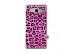 Coque Samsung Galaxy A7 2015 Pink Leopard Translu