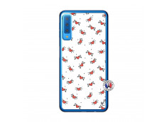 Coque Samsung Galaxy A7 2018 Cartoon Heart Translu
