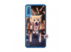 Coque Samsung Galaxy A7 2018 Cat Nasa Translu