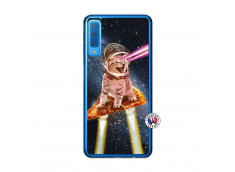 Coque Samsung Galaxy A7 2018 Cat Pizza Translu
