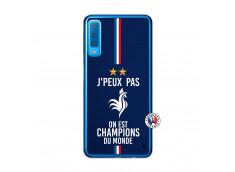 Coque Samsung Galaxy A7 2018 Je Peux Pas On Est Les Champions Du Monde Translu