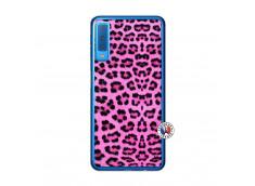 Coque Samsung Galaxy A7 2018 Pink Leopard Translu