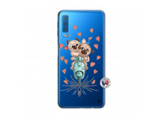 Coque Samsung Galaxy A7 2018 Puppies Love