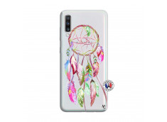 Coque Samsung Galaxy A70 Pink Painted Dreamcatcher