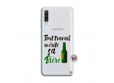 Coque Samsung Galaxy A70 Tout Travail Merite Sa Biere