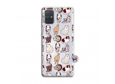 Coque Samsung Galaxy A71 Cat Pattern
