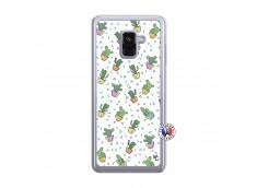 Coque Samsung Galaxy A8 2018 Le Monde Entier est un Cactus Translu