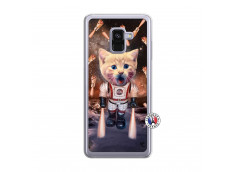 Coque Samsung Galaxy A8 2018 Cat Nasa Translu