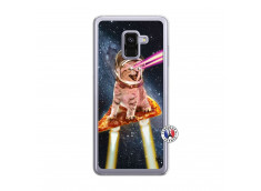 Coque Samsung Galaxy A8 2018 Cat Pizza Translu