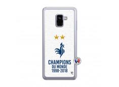 Coque Samsung Galaxy A8 2018 Champion Du Monde Translu