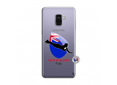 Coque Samsung Galaxy A8 2018 Coupe du Monde Rugby- Nouvelle Zélande