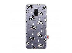 Coque Samsung Galaxy A8 2018 Cow Pattern