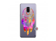 Coque Samsung Galaxy A8 2018 Dreamcatcher Rainbow Feathers