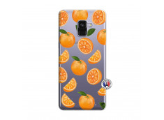 Coque Samsung Galaxy A8 2018 Orange Gina