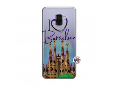 Coque Samsung Galaxy A8 2018 I Love Barcelona