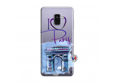 Coque Samsung Galaxy A8 2018 I Love Paris Arc Triomphe