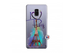 Coque Samsung Galaxy A8 2018 I Love Paris