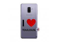 Coque Samsung Galaxy A8 2018 I Love Toulouse