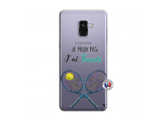 Coque Samsung Galaxy A8 2018 Je Peux Pas J Ai Tennis