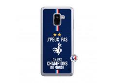 Coque Samsung Galaxy A8 2018 Je Peux Pas On Est Les Champions Du Monde Translu