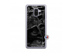 Coque Samsung Galaxy A8 2018 Black Marble Translu